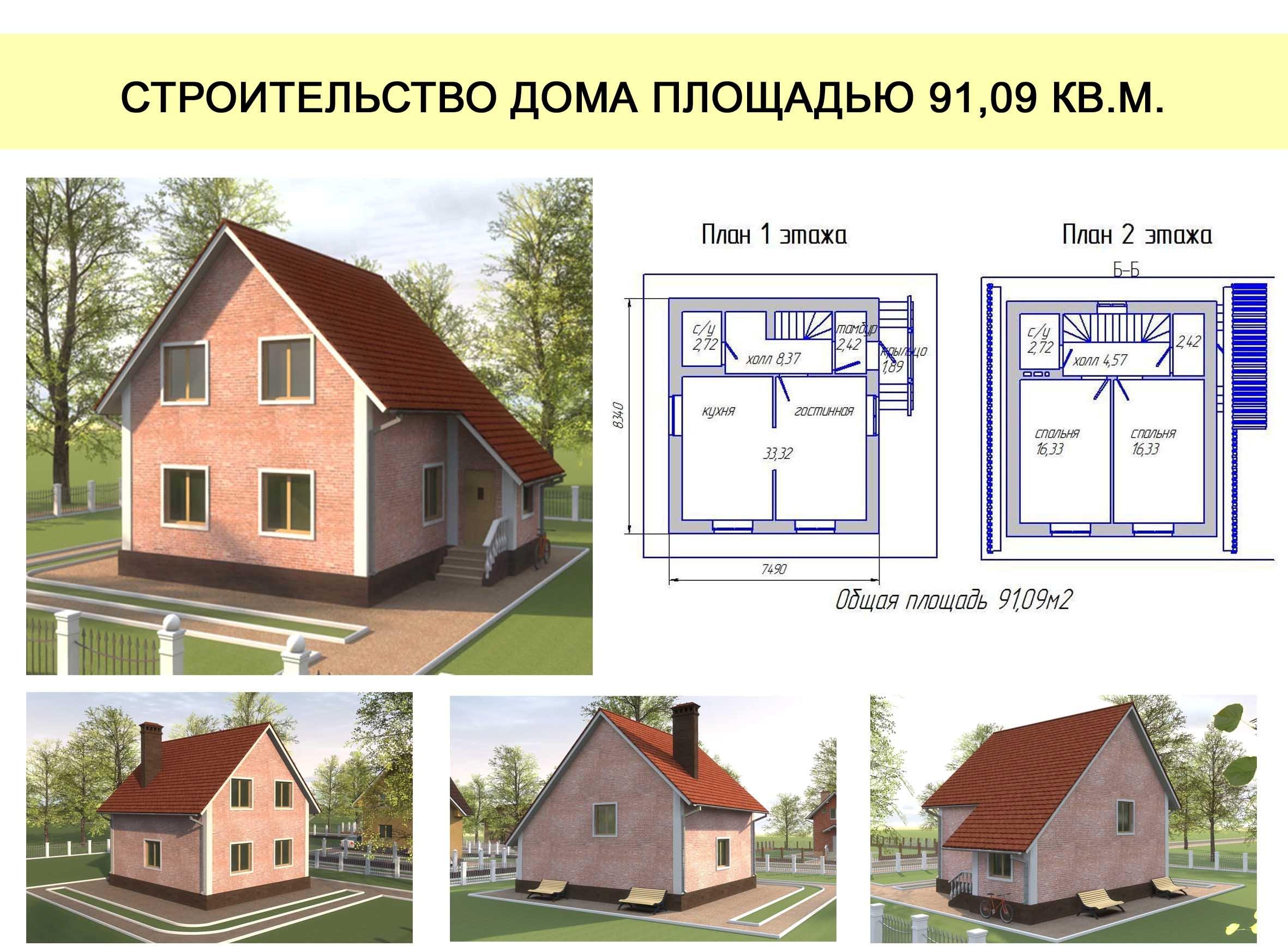 Какой дом можно построить фото и схема